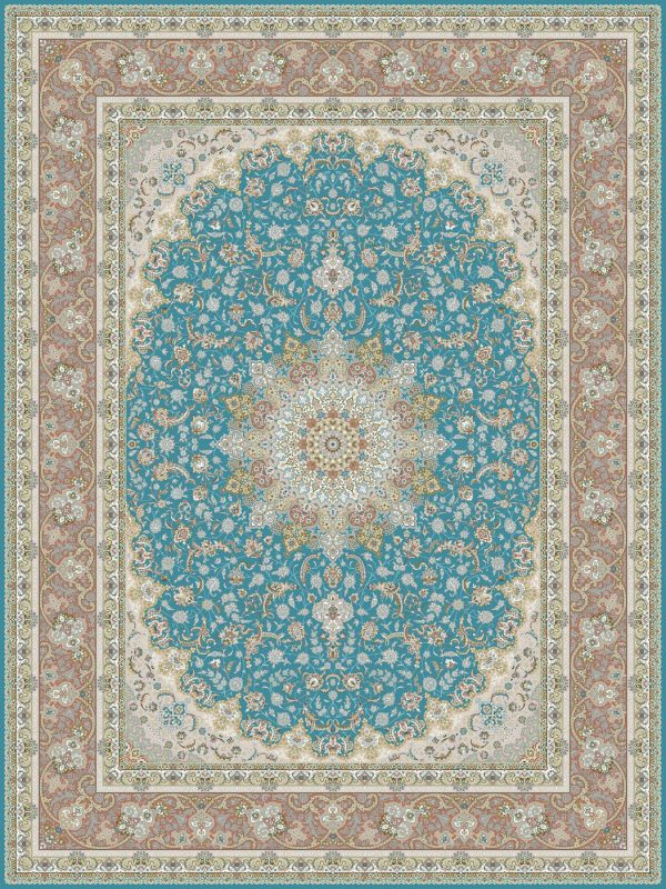 G120 (Blue Center) - Persian Rugs Wembley - Wembley Rugs