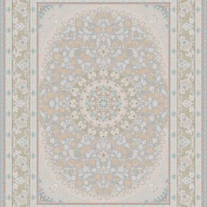 G126 (Pink Carpet with Peach Flower Patterns) - Persian Rugs Wembley - Wembley Rugs