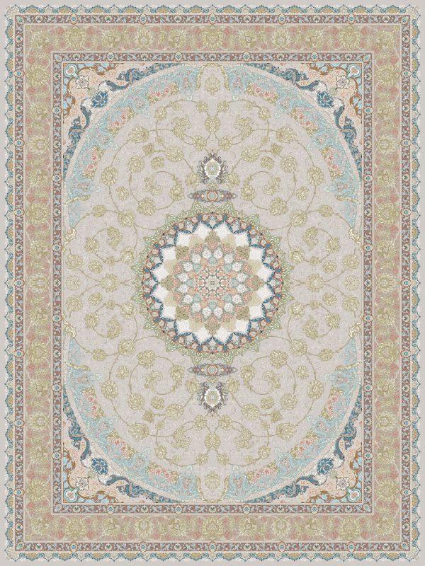 G129 (Classic Golden Vines in Pink Background) - Persian Rugs Wembley - Wembley Rugs