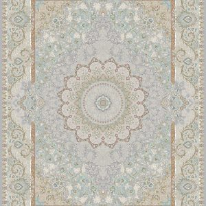 G135 (Pale Lavender and Pale Blue Center Patterns) - Persian Rugs Wembley - Wembley Rugs