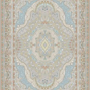 G146 (Pale Blue and Yellow Flower Patterns) - Persian Rugs Wembley - Wembley Rugs