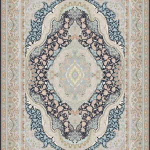 G146 (Pink and Blue Center Flower Patterns) - Persian Rugs Wembley - Wembley Rugs